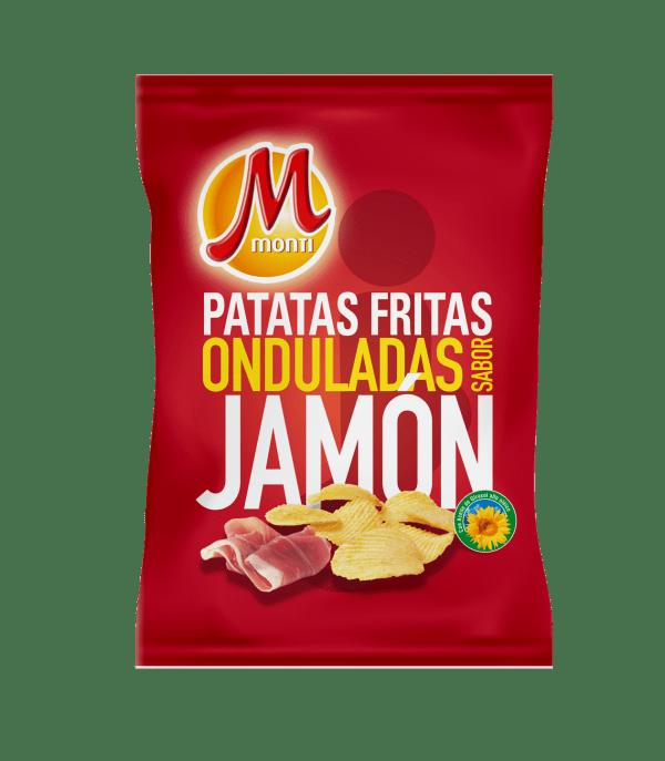 Monti Clásicas Patatas fritas Onduladas Sabor Jamón